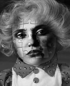 Face, Woman, Puzzle, Psychology