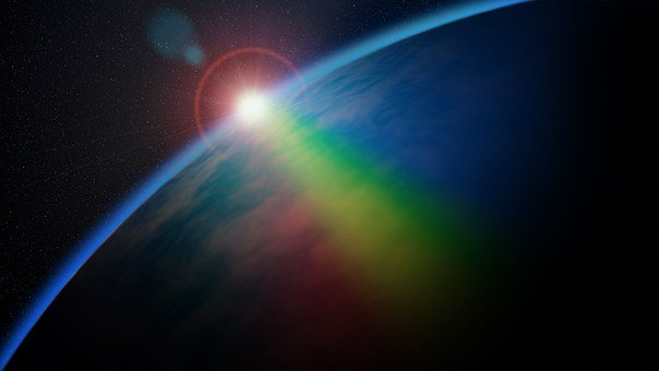 Rainbow, Space, Planet, Science, Earth