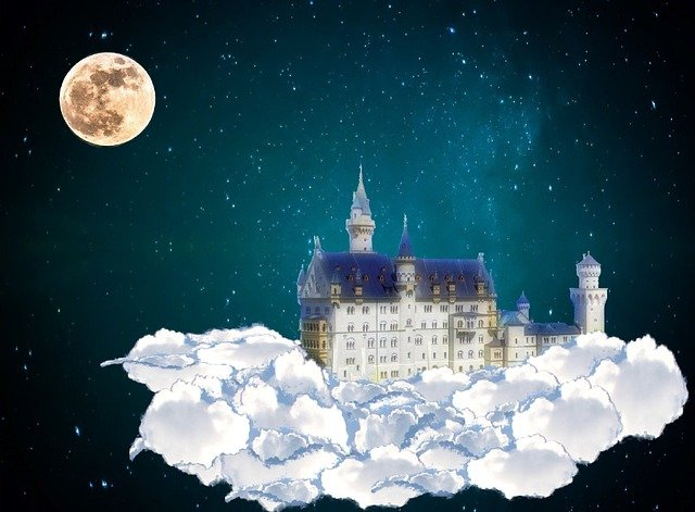 Free Illustration Castle Clouds Fairy Tales Dream