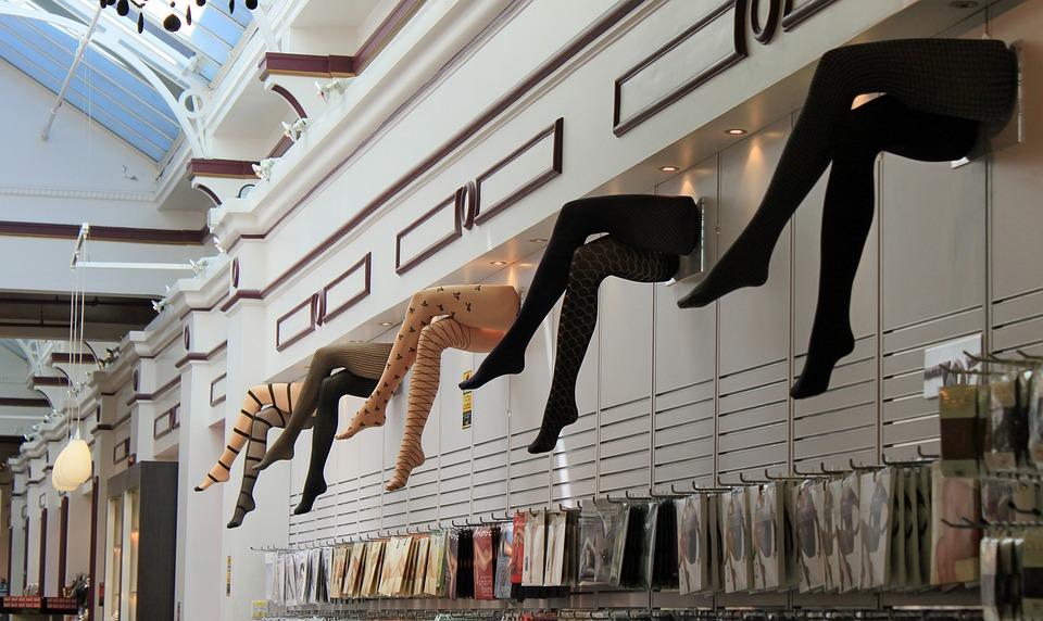 足, ストッキング, 女性の足, 百貨店, 広告