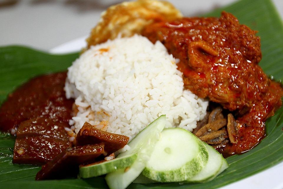 食品, ナシゴレン Lemak, アジア, マレーシア, マレー語, 皿, 食事, 辛い, サンバル