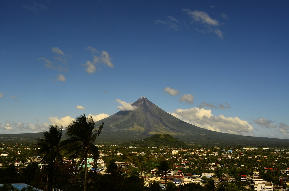 Volcan, Mayon, Philippines, Nature, Montagne, Asie