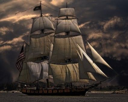 Sailing Ship, Vessel, Boat, Sea