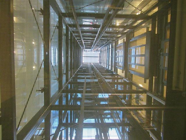 Free Photo Elevator Shaft Lift Steel Beams Free