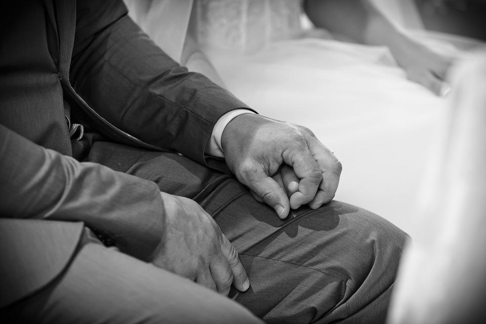 Cónyuges, Matrimonio, Manos, Boda, Novela, Blanco, Nero