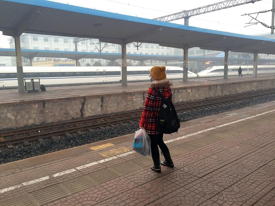 free photo girls train station train   free image on