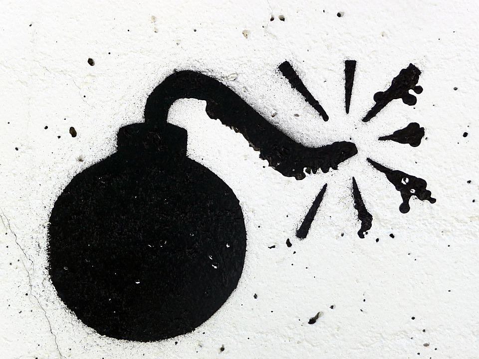 落書き, 爆弾, 黒と白, 装飾