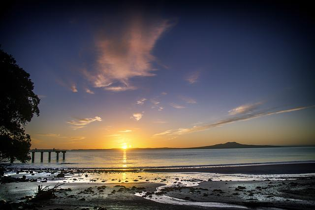 Free Photo Sun Rise Beach New Zealand Free Image On Pixabay 661541