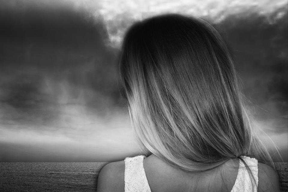 Child, Girl, Long Hair, Blond, Sea, Outlook
