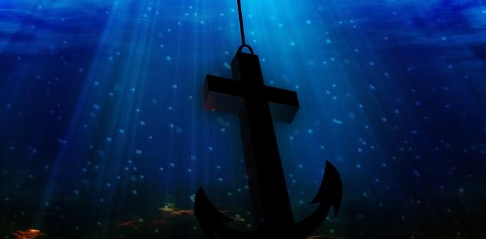 Anchor Sea Cross Religion Underwater