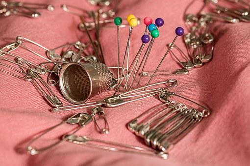 Sewing, Thimble, Pins, Safety Pins