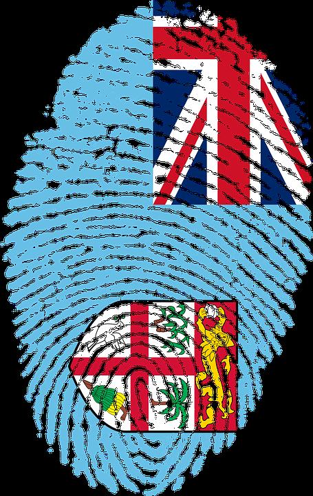 Fiji Flag Fingerprint Country Pride Identity