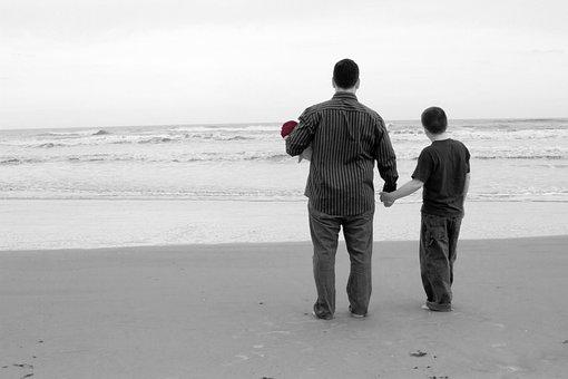 Playa Océano Familia Papá Hermano Hermana