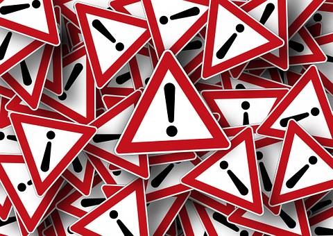 道路標識, 注目, 正しい方法の, 注意してください, 感嘆符, 問題