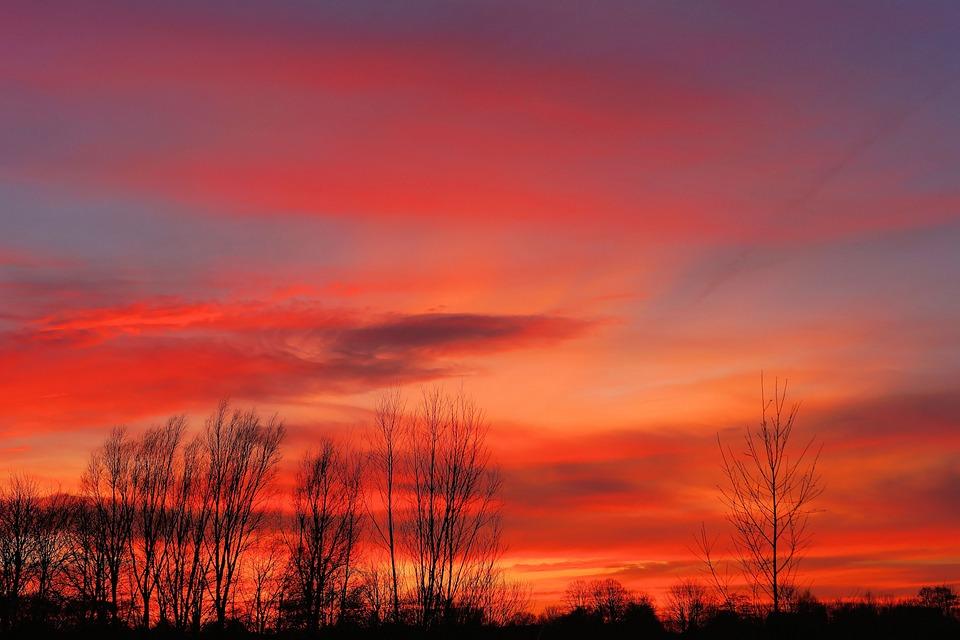 Free Photo Sunset Background Colorful Sky
