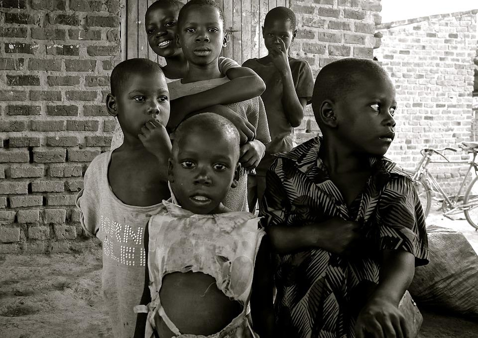 子供, ウガンダ, アフリカ, 貧困, 発展途上国, 貧困削減, 生活条件