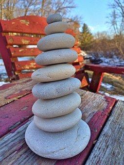 Gestapelte Steine, Entspannen, Felsen