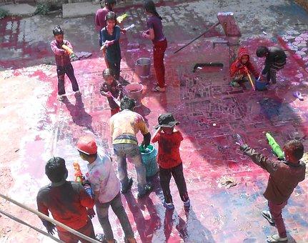 Travel, Colors, Holi, India, Celebration