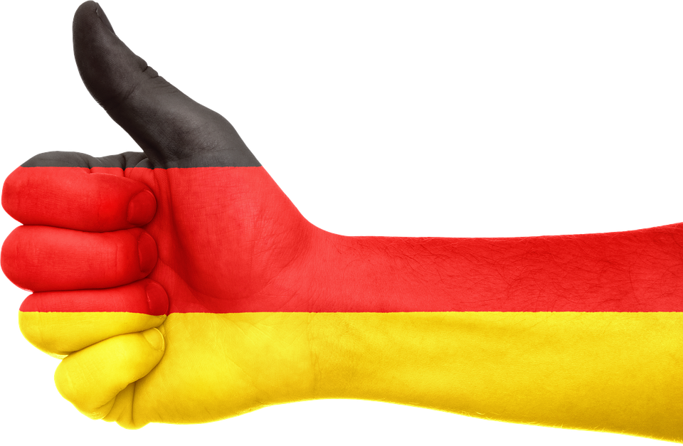 Alemania, Bandera, Mano, Nacional, Los Dedos