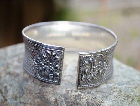 Sterling Silver, Bracelet, Silver