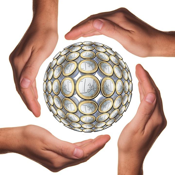 Bola, Proteger, Las Manos, Euro, Mano, Moneda, Dinero