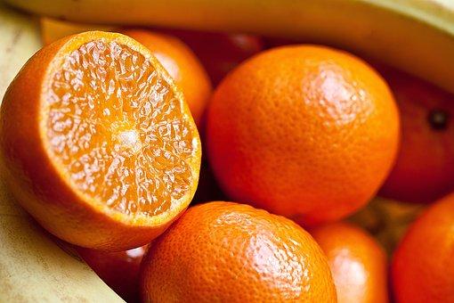 フルーツ, 南部の果物, 果実全体, 果実のインテリア, オレンジ, みかん