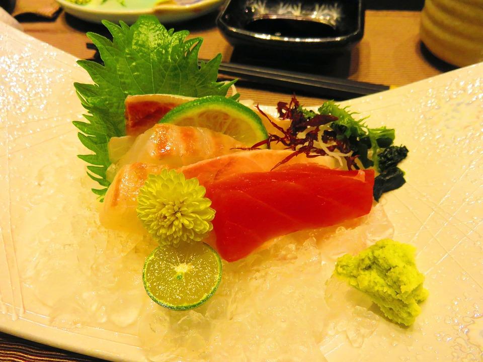 Raw Fish Slice, Gourmet, Kaiseki, Salmon