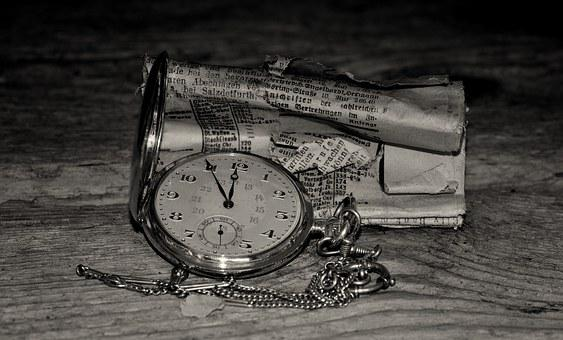 Pocket Watch, Clock, Jewellery, Gold