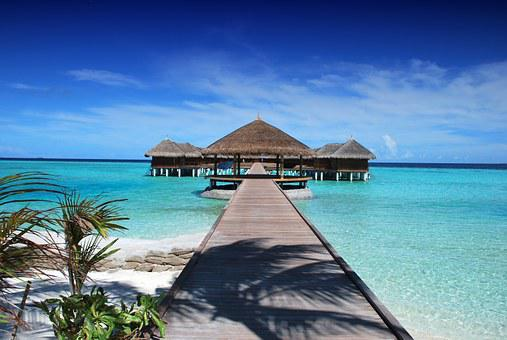 Maldives Ile Beach Sun Holiday Ocean Natur