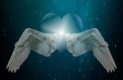 Herz, Liebe, Flügel, Engel, Himmel