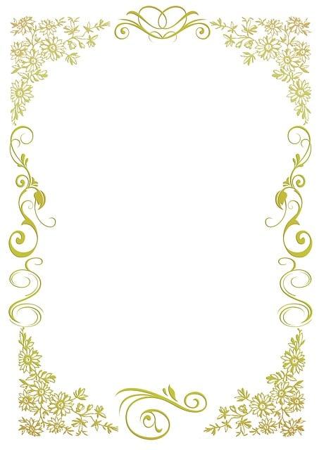 Briefpapier floral gold kostenloses bild auf pixabay - Vintage bilder kostenlos ...
