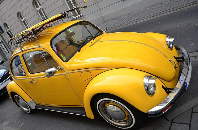 free photo vw beetle yellow beetle free image on pixabay 667460. Black Bedroom Furniture Sets. Home Design Ideas