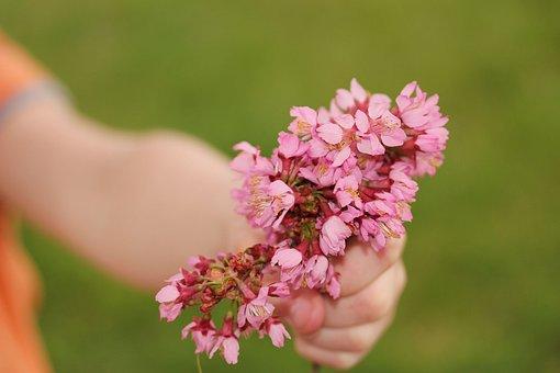 Flower Hand Child Mother Nature White Fema