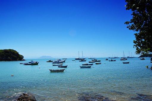 Playa, Búzios, Brasil, Costa, Sol