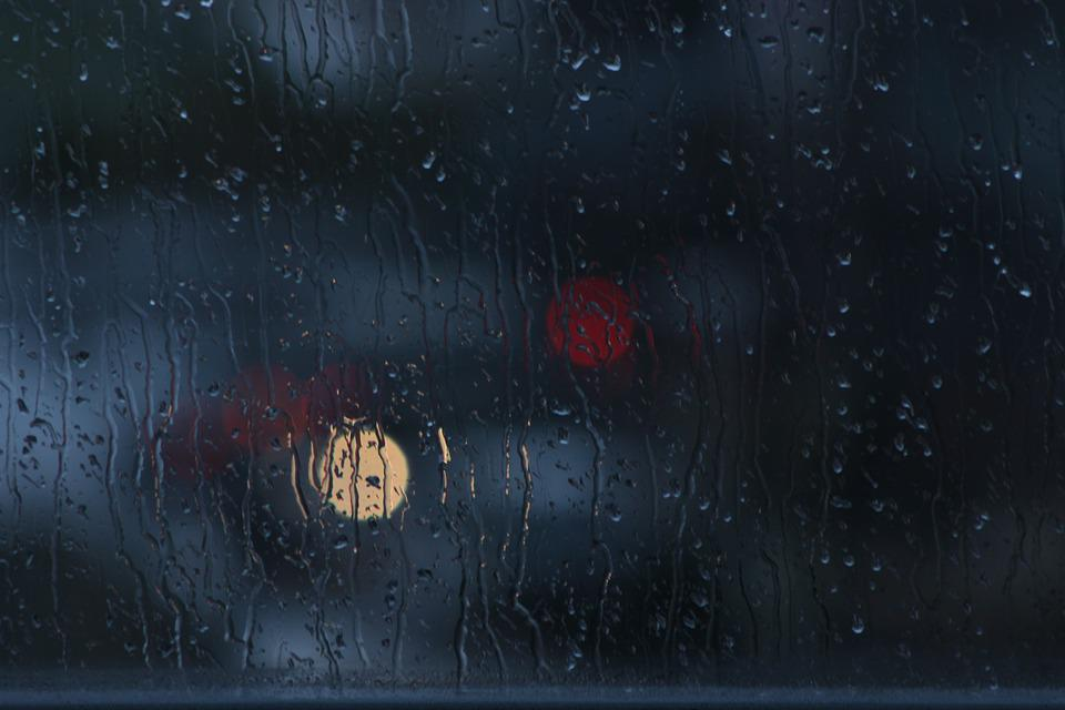 Free Photo Rain Window Bokeh Glass Dark Free Image