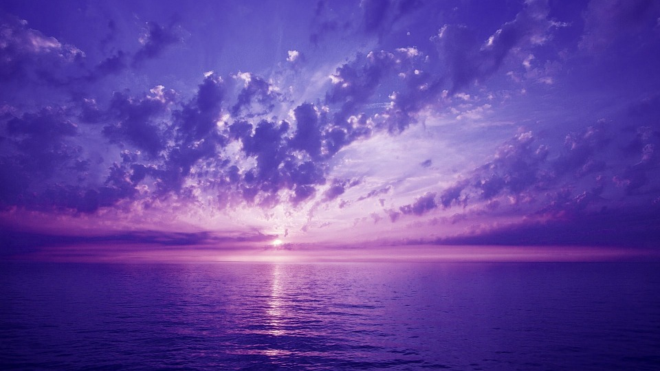 Free Photo Violet Sunset Sky See Clouds Free Image