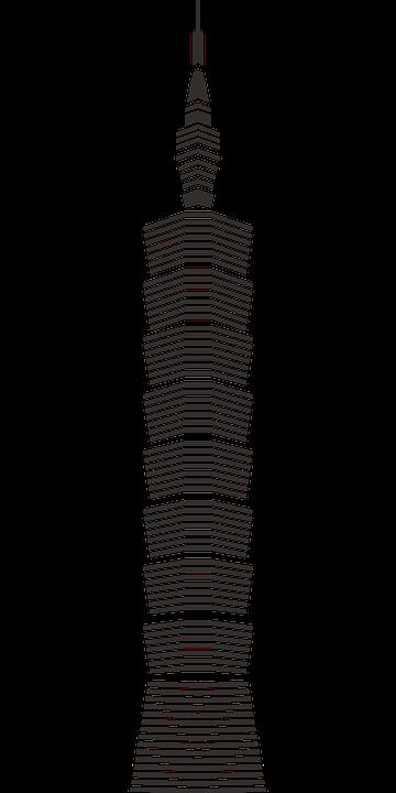 Taipei 101 Taiwan 183 Free Vector Graphic On Pixabay