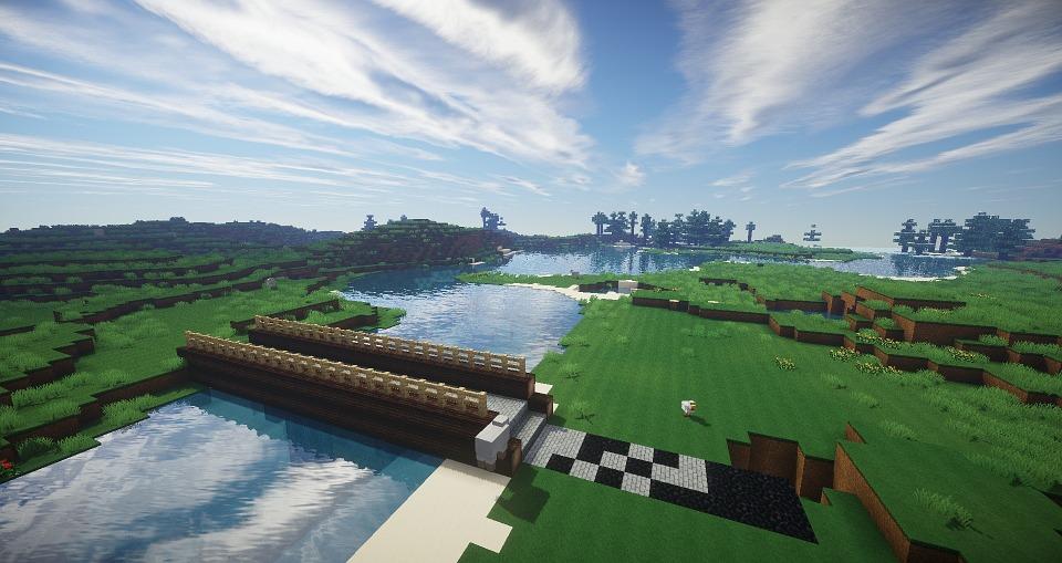 Minecraft Jembatan Sungai Gambar Gratis Di Pixabay