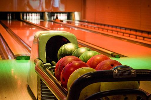 Bowling, Alley, Balls, Colors, Playing