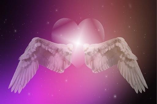 Herz, Flügel, Sterne, Liebe