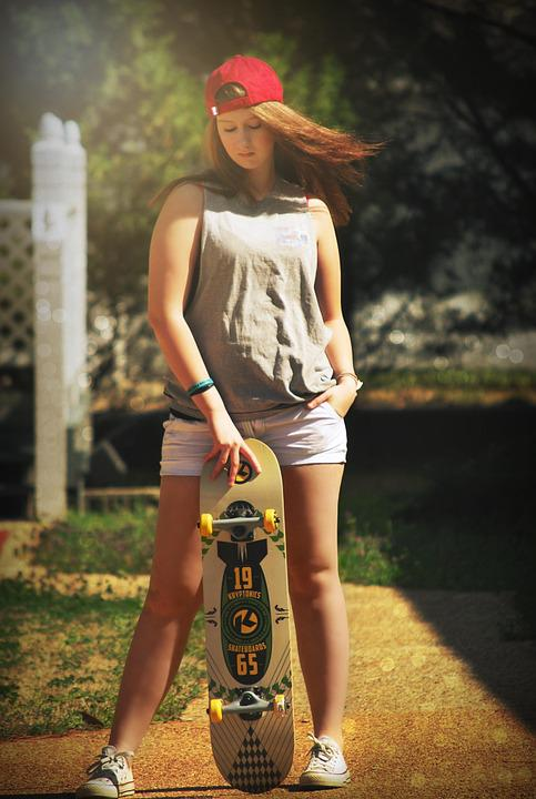Girl, Skateboard, Young, Lifestyle, Female, Skate