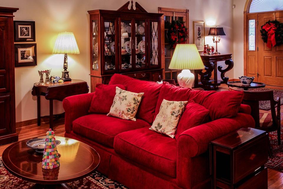 Woonkamer Grote Zaal Kersttijd · Gratis foto op Pixabay