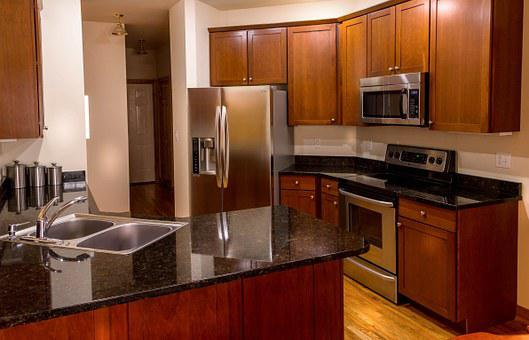 Kitchen, Cabinets, Countertop, Granite