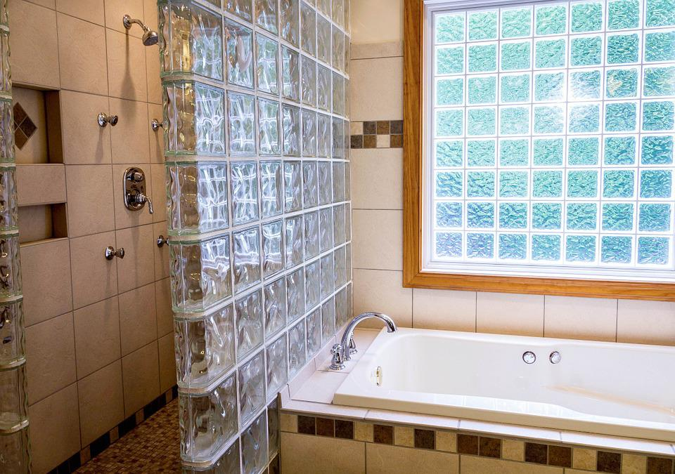 bathroom ceramic tile. Shower  Tub Bathroom Ceramic Tile Glass Blocks Free photo Image on