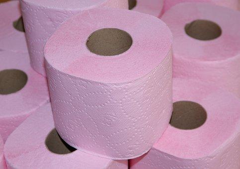 Toilet Paper, Wc, Toilet, Hygiene