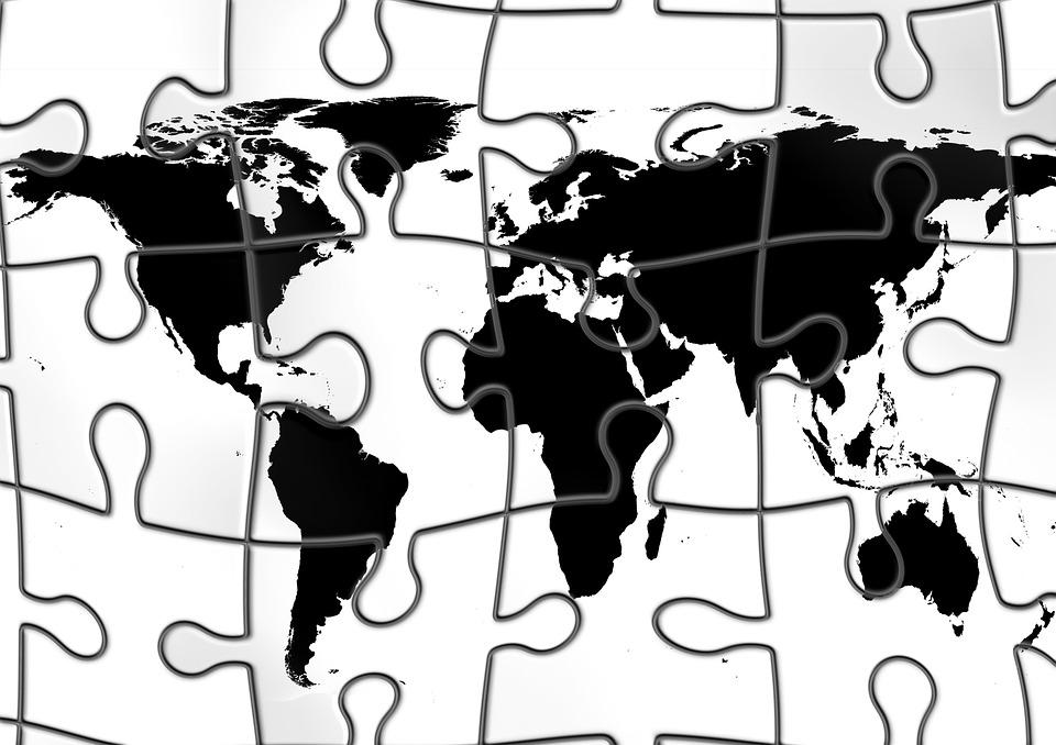 Line Art Earth : Globe puzzle earth · free image on pixabay