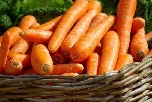 Carrots Basket Vegetables Market Carrots C