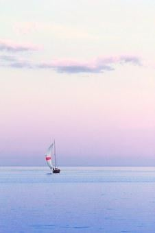 Sailboat Water Dusk Vertical Summer Y