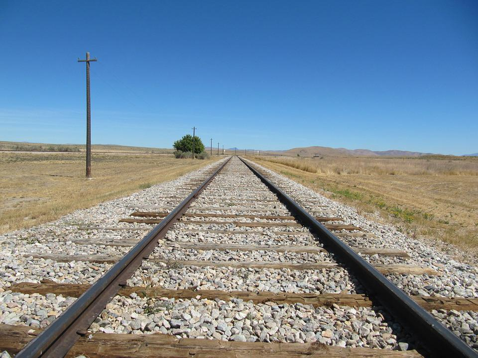 train tracks telephone pole  u00b7 free photo on pixabay
