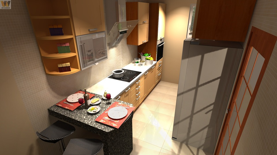 Kitchen Cad Animation Interior Design Modern